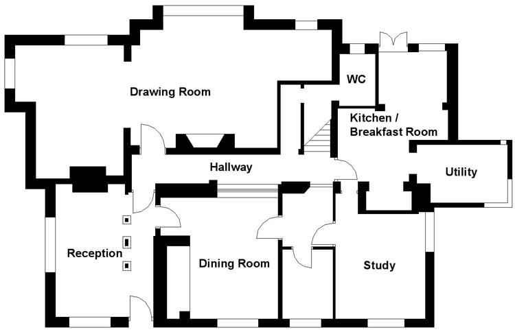 Draw floor plans for estate agents thefloors co for Floor plan drafting services